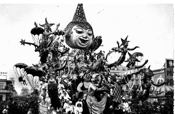 Notte di carnevale di Alfredo Pardini - Carri grandi - Carnevale di Viareggio 1951