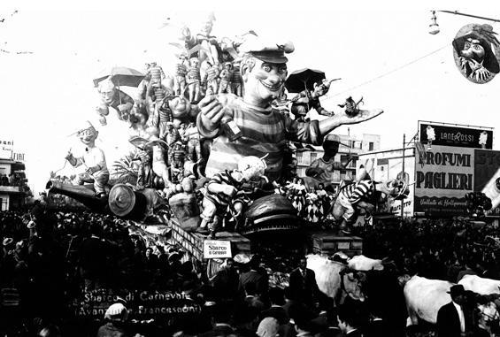Sbarco di carnevale di Silvano Avanzini, Francesco Francesconi - Carri grandi - Carnevale di Viareggio 1951