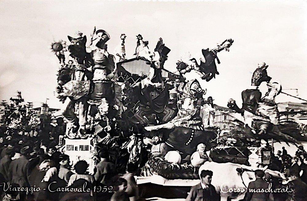 Festa nel pollaio di Nilo Lenci - Carri piccoli - Carnevale di Viareggio 1952