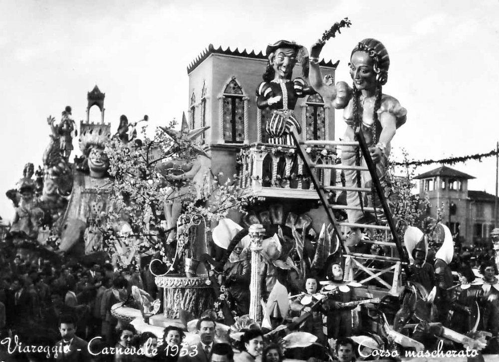 Giulietta e Romeo di Oreste Lazzari - Carri piccoli - Carnevale di Viareggio 1953
