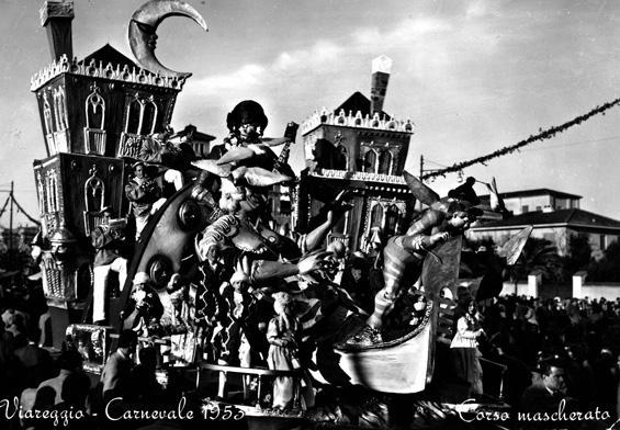 Gli amori di Giacomo Casanova di Eugenio Pardini - Carri piccoli - Carnevale di Viareggio 1953