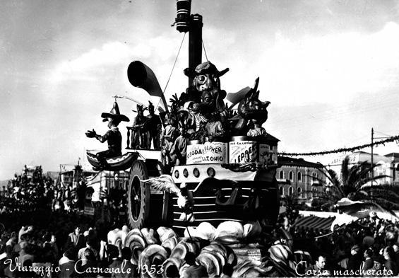 Il ritorno dalla scoperta dell'America di Renato Santini, Giulio Palmerini - Carri piccoli - Carnevale di Viareggio 1953