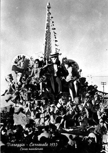 Le Ville lumiere di Antonio D'Arliano - Carri grandi - Carnevale di Viareggio 1953