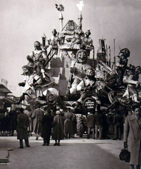 Le avventure di cappa e... spiedo di Sergio Baroni - Carri grandi - Carnevale di Viareggio 1953