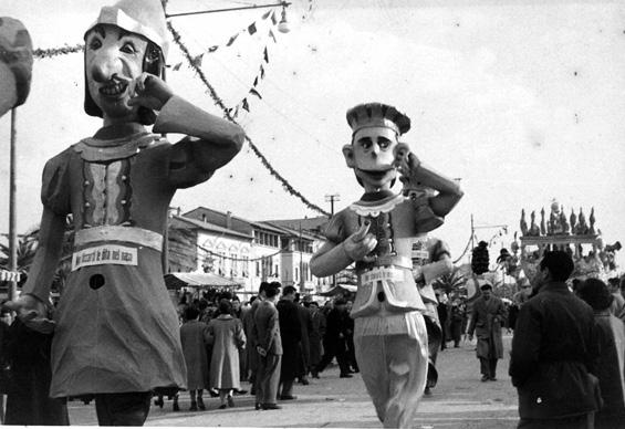 Nei e cicisbei di Guido Lippi - Mascherate di Gruppo - Carnevale di Viareggio 1953