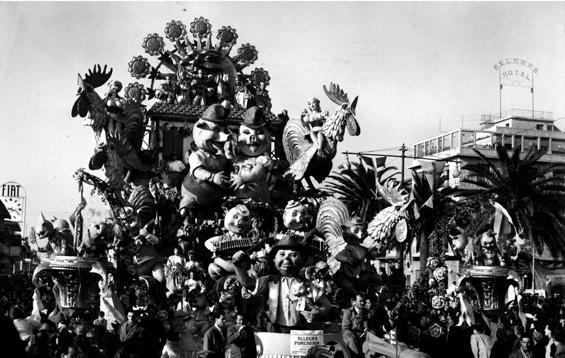 Allegra porcheria di Antonio D'Arliano - Carri grandi - Carnevale di Viareggio 1954