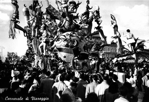 Godiamoci la vita di Alfredo Pardini - Carri grandi - Carnevale di Viareggio 1954