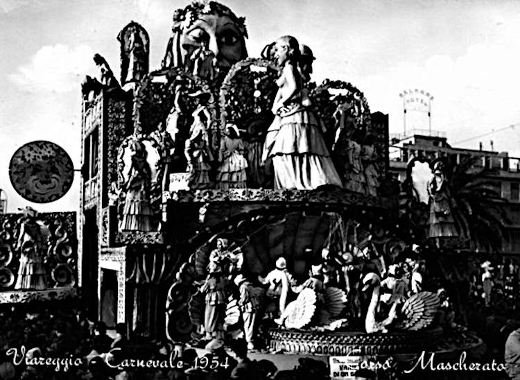 Rivista di un secolo di Michele Pardini e Ademaro Musetti - Carri grandi - Carnevale di Viareggio 1954