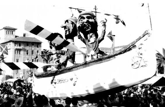 Vento in poppa di Eugenio Pardini - Complessi mascherati - Carnevale di Viareggio 1954