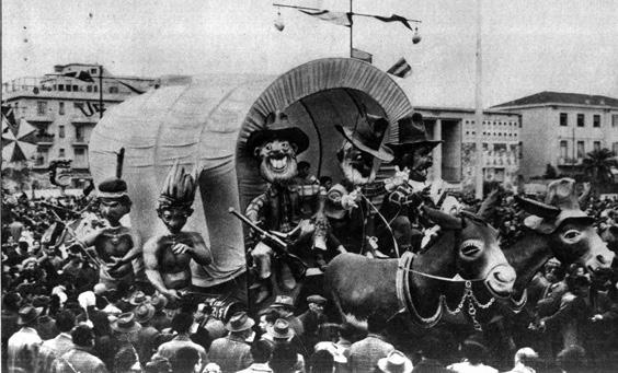 Arrivano i nostri di Nilo Lenci - Complessi mascherati - Carnevale di Viareggio 1955