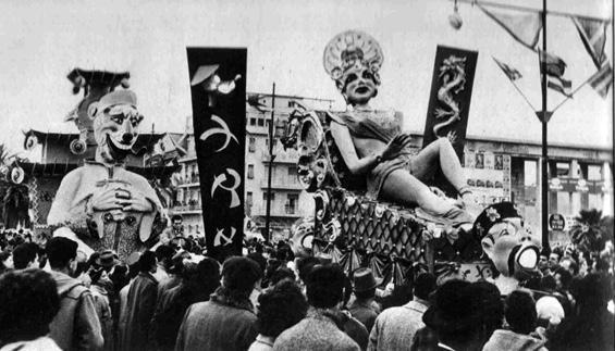 La corte del Gran Khan di Giovanni Lazzarini - Complessi mascherati - Carnevale di Viareggio 1955