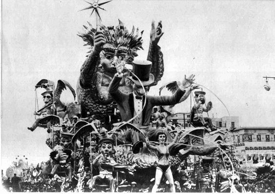 Libeccio in poppa di Carlo Vannucci e Sandro Bertuccelli - Carri grandi - Carnevale di Viareggio 1955