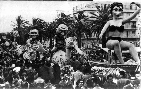 Mare, amore e fantasia di Oreste Lazzari - Complessi mascherati - Carnevale di Viareggio 1955