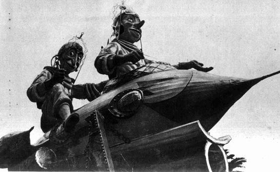 Viaggio interplanetario di Amedeo Mallegni - Complessi mascherati - Carnevale di Viareggio 1955