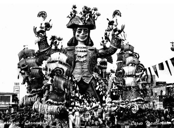 Arriva Gulliver di Carlo Vannucci e Sandro Bertuccelli - Carri grandi - Carnevale di Viareggio 1956