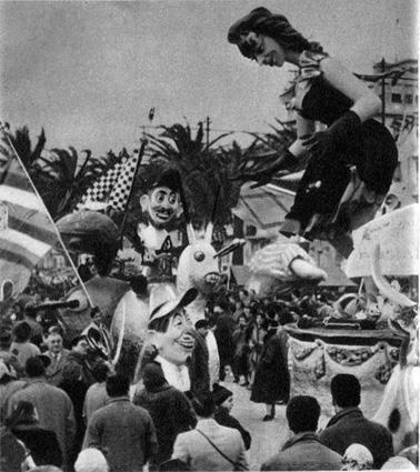 Palio in maschera di Eugenio Pardini - Complessi mascherati - Carnevale di Viareggio 1956
