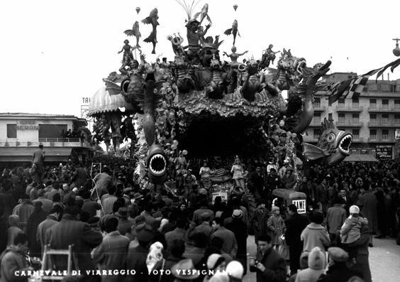 Sogno di un pescatore di Alfredo Pardini - Carri grandi - Carnevale di Viareggio 1956
