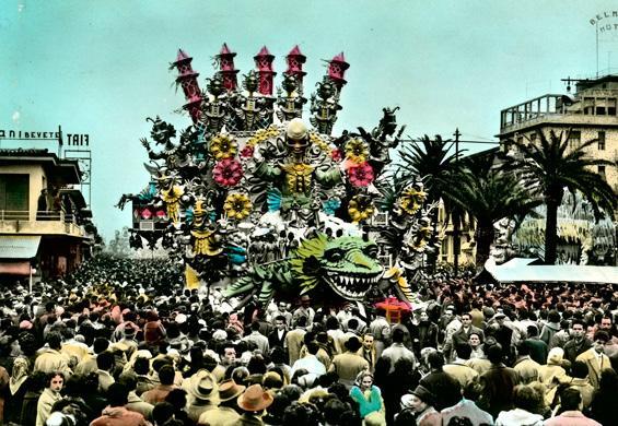 Cing Ciang mago d'Oriente di Antonio D'Arliano - Carri grandi - Carnevale di Viareggio 1957
