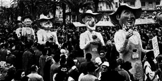 Ditelo con i fiori di Giulio Bonetti - Mascherate di Gruppo - Carnevale di Viareggio 1957