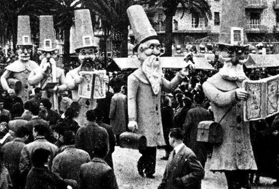 I ripetentoni di Giovanni Pardini - Mascherate di Gruppo - Carnevale di Viareggio 1957