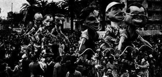 La volata di Eugenio Pardini - Complessi mascherati - Carnevale di Viareggio 1957