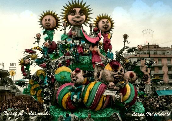 L'Universo impazza di Alfredo Pardini - Carri grandi - Carnevale di Viareggio 1957