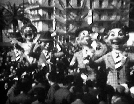 Tifo galoppante di Raffaello Giunta - Mascherate di Gruppo - Carnevale di Viareggio 1957