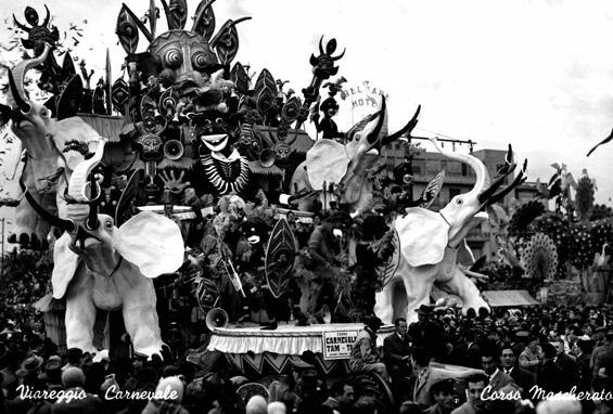 Carnevale tam tam di Carlo Francesconi e Sergio Barsella - Carri grandi - Carnevale di Viareggio 1958