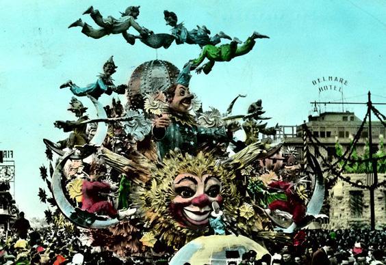 L'allegro satellite di Nilo Lenci e Giulio Palmerini - Carri grandi - Carnevale di Viareggio 1958