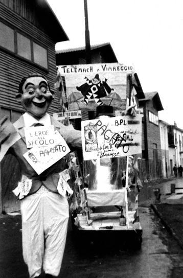 L'eroe del secolo di Giovanni Dinelli - Maschere Isolate - Carnevale di Viareggio 1958
