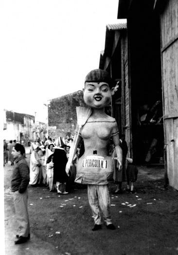 Pericolo numero uno di Achille Del Pistoia - Maschere Isolate - Carnevale di Viareggio 1958