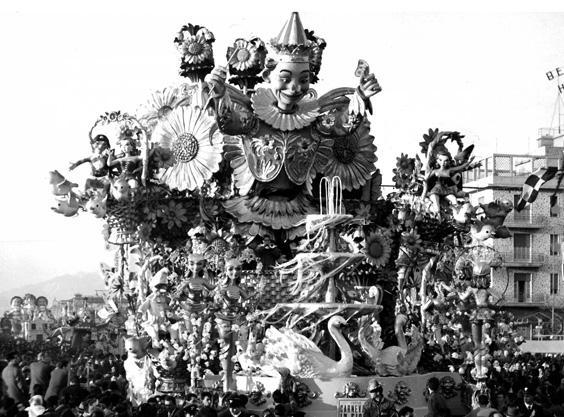 Carnevale in fiore di Antonio D'Arliano - Carri grandi - Carnevale di Viareggio 1959