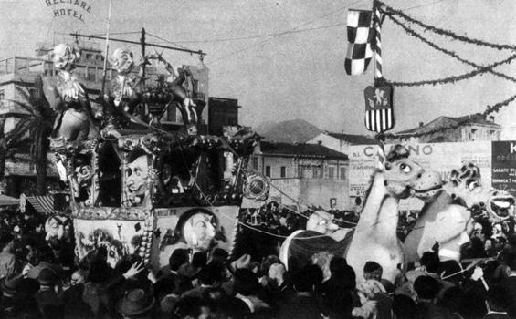 Carnevale in livrea di Giovanni Lazzarini - Complessi mascherati - Carnevale di Viareggio 1959