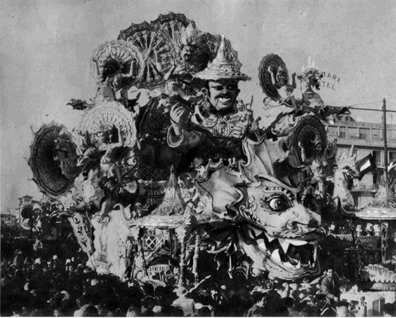 Carnevale in sogno di Nilo Lenci, Giulio Palmerini - Carri grandi - Carnevale di Viareggio 1959