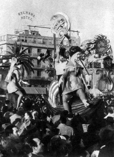 Coppie celebri di Eugenio Pardini - Complessi mascherati - Carnevale di Viareggio 1959