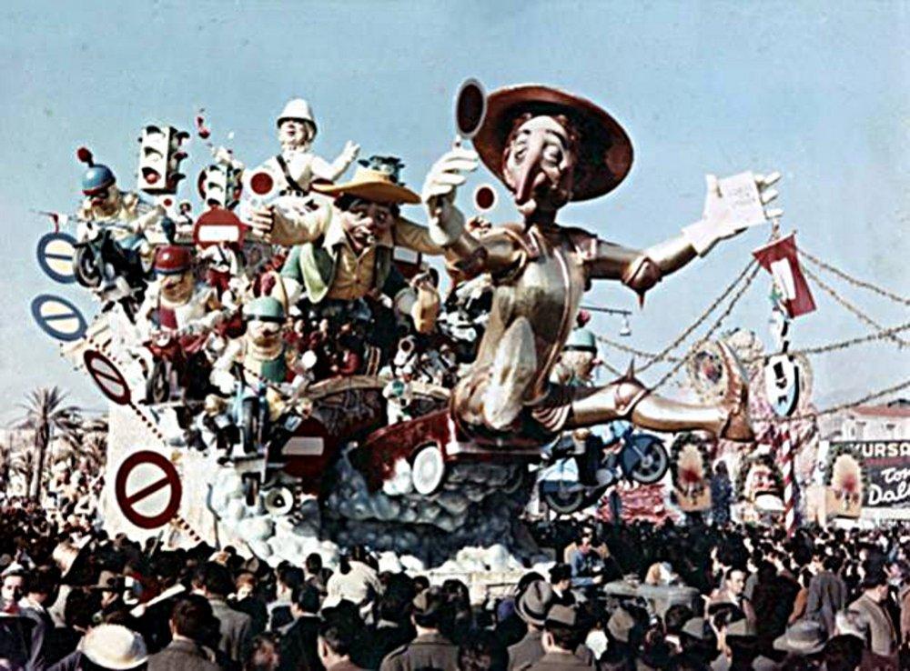 Don Chisciotte di Silvano Avanzini - Carri grandi - Carnevale di Viareggio 1959