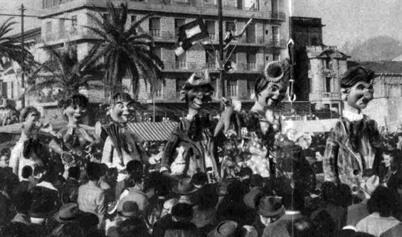 La famiglia Risparmini di Raffaello Giunta - Mascherate di Gruppo - Carnevale di Viareggio 1959
