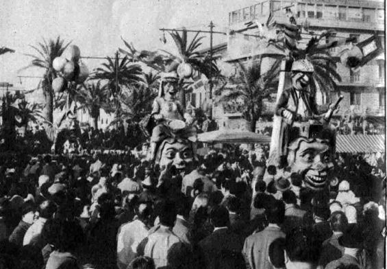 La famiglia volante di Amedeo Mallegni - Complessi mascherati - Carnevale di Viareggio 1959