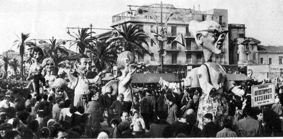 Autostoppisti rassegnati di Fabio Malfatti - Mascherate di Gruppo - Carnevale di Viareggio 1960