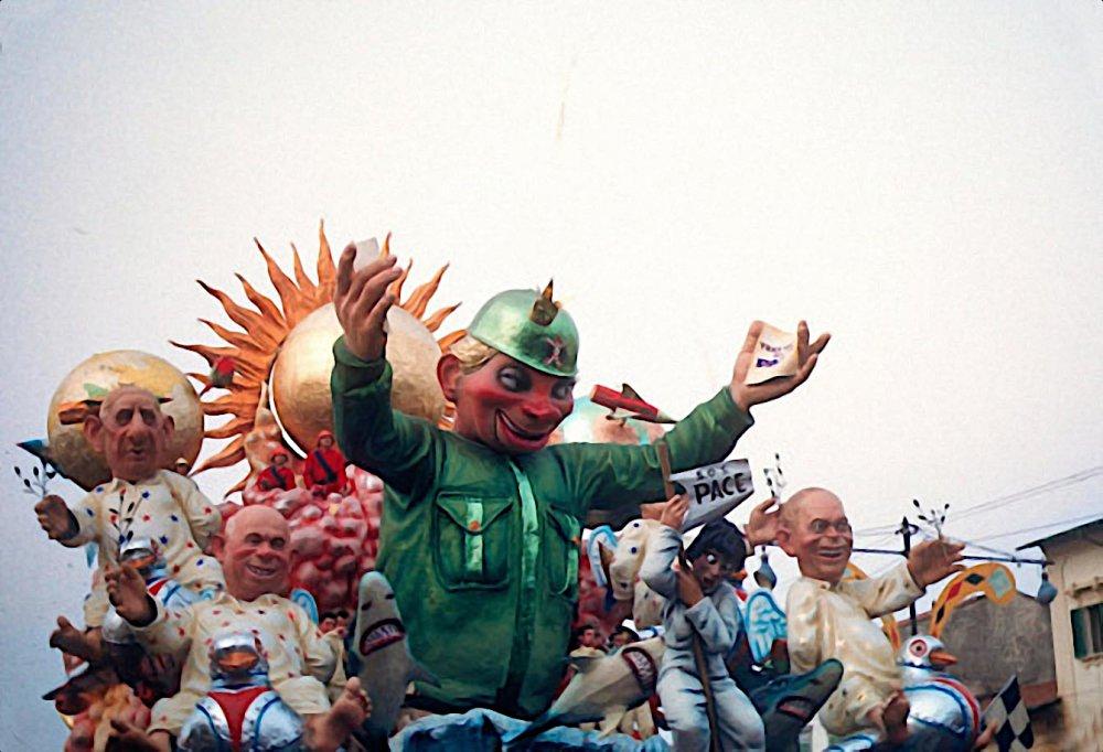 Carnevale al vertice di Silvano Avanzini - Carri grandi - Carnevale di Viareggio 1960