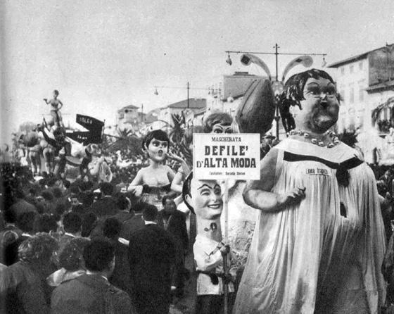 Defilè d'alta moda di Davino Barsella - Mascherate di Gruppo - Carnevale di Viareggio 1960