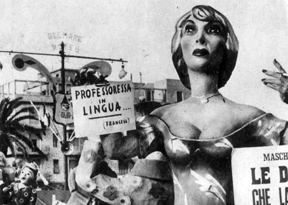 Donne che lavorano di Giovanni Pardini - Mascherate di Gruppo - Carnevale di Viareggio 1960