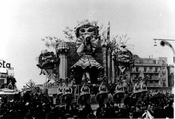 Europa di notte di Antonio D'Arliano - Carri grandi - Carnevale di Viareggio 1960