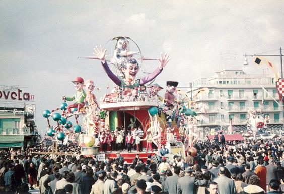 Musica e missili di Ademaro Musetti - Carri grandi - Carnevale di Viareggio 1960