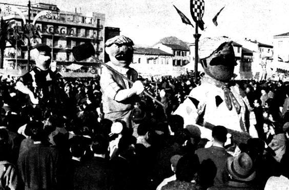 Chi la fa, l'aspetti di Davino Barsella - Mascherate di Gruppo - Carnevale di Viareggio 1961