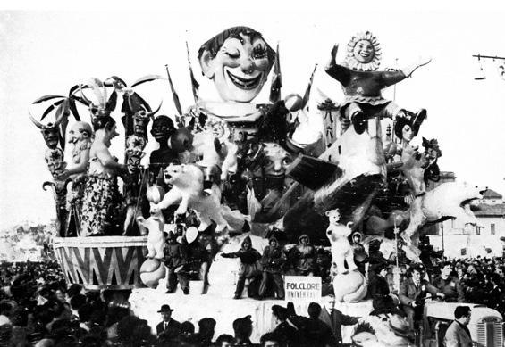 Folclore universale di Ademaro Musetti - Carri grandi - Carnevale di Viareggio 1961