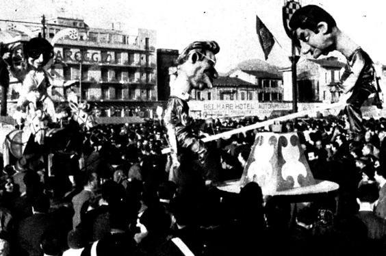 I grandi dell'equilibrio di Amedeo Mallegni - Complessi mascherati - Carnevale di Viareggio 1961