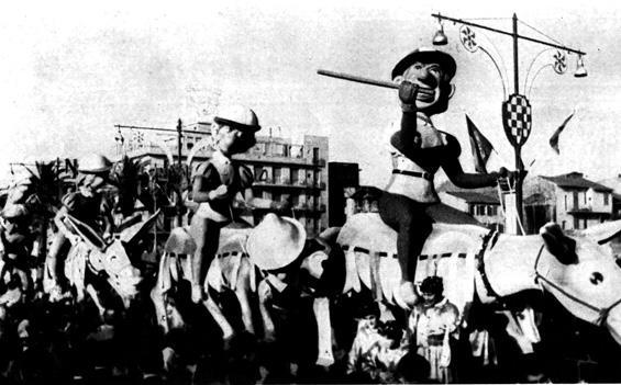 Il palio dell'allegria di Carlo Bomberini - Complessi mascherati - Carnevale di Viareggio 1961
