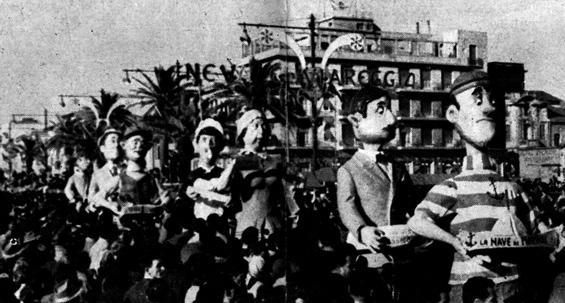 Le promesse elettorali mantenute di Fortunato Pardini - Mascherate di Gruppo - Carnevale di Viareggio 1961