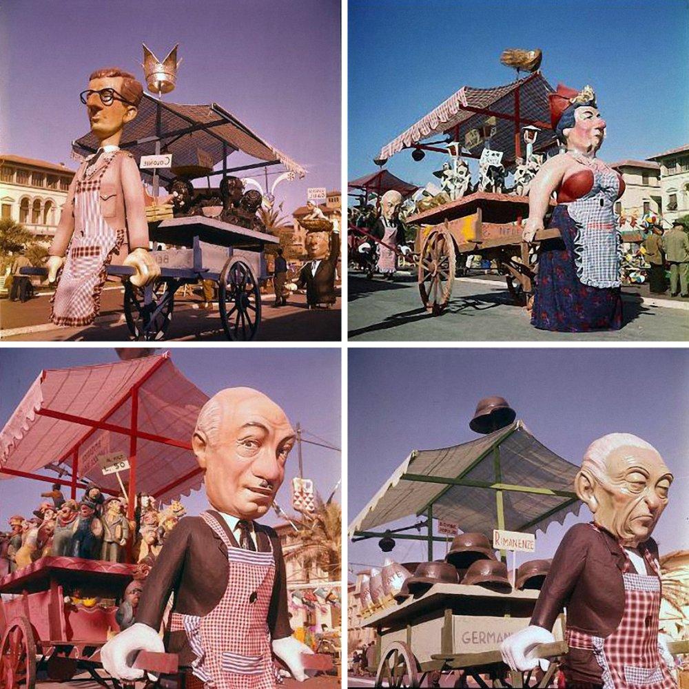 Mercato comune di Arnaldo Galli - Complessi mascherati - Carnevale di Viareggio 1961
